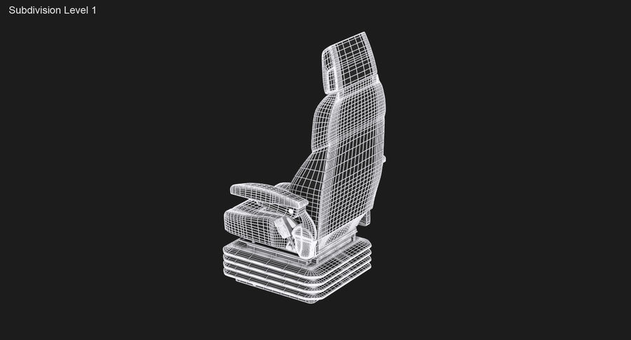 Vehicle Seat royalty-free 3d model - Preview no. 14