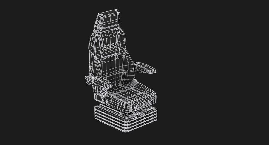 Vehicle Seat royalty-free 3d model - Preview no. 11