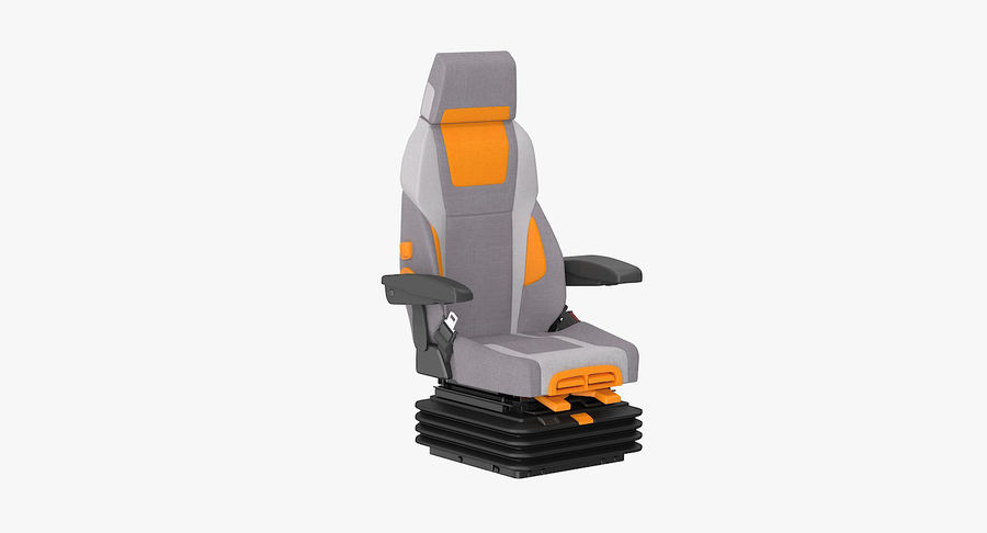 Vehicle Seat royalty-free 3d model - Preview no. 2