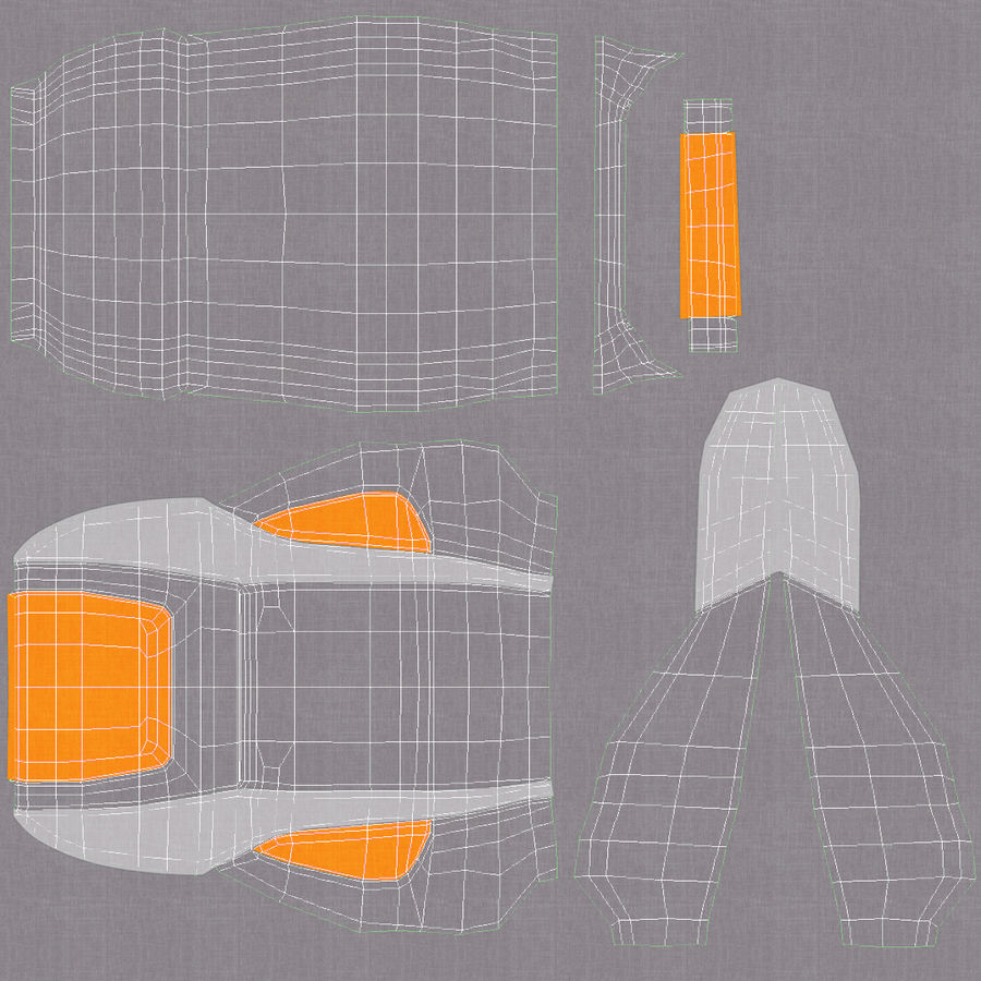 Vehicle Seat royalty-free 3d model - Preview no. 19