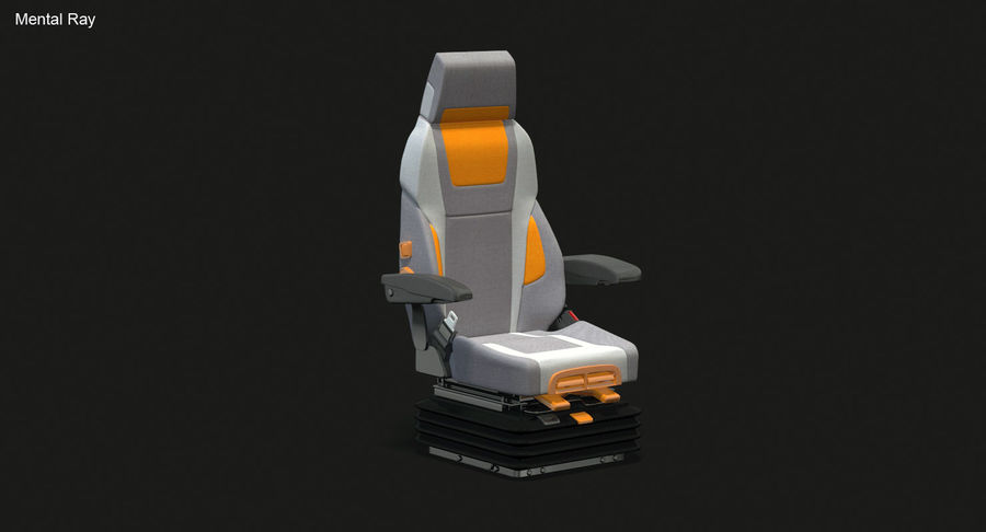 Vehicle Seat royalty-free 3d model - Preview no. 4