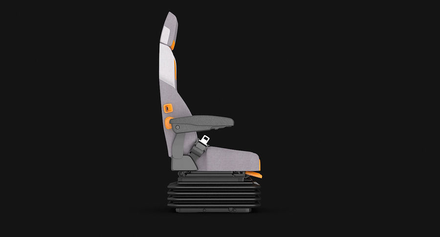 Vehicle Seat royalty-free 3d model - Preview no. 5