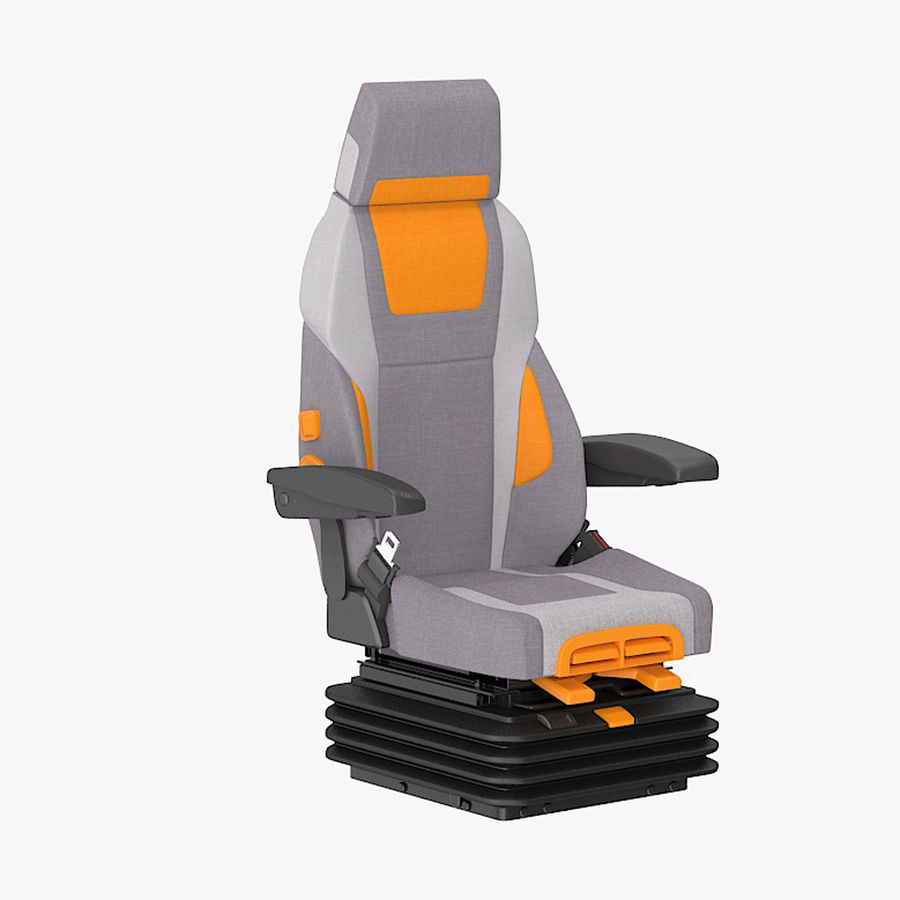 Vehicle Seat royalty-free 3d model - Preview no. 1