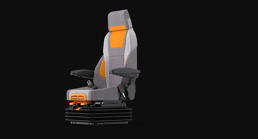 Vehicle Seat royalty-free 3d model - Preview no. 9