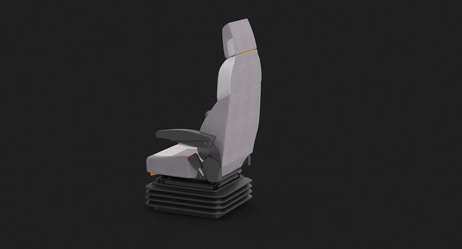 Vehicle Seat royalty-free 3d model - Preview no. 7