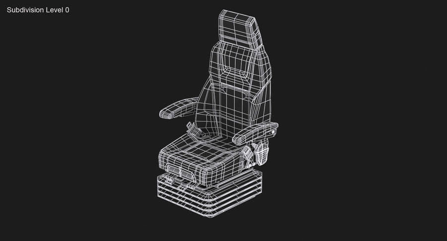 Vehicle Seat royalty-free 3d model - Preview no. 15