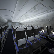 Interiör i flygkabin 3d model