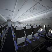 Vliegtuigcabine interieur 3d model