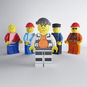 Lego karakter kümesi 3d model