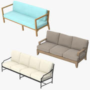 Patio Couches Collection 3d model