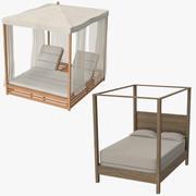 Colección de camas al aire libre modelo 3d