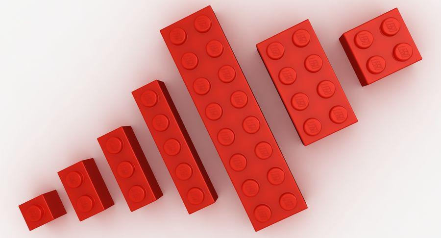 Lego Bricks Set royalty-free 3d model - Preview no. 12