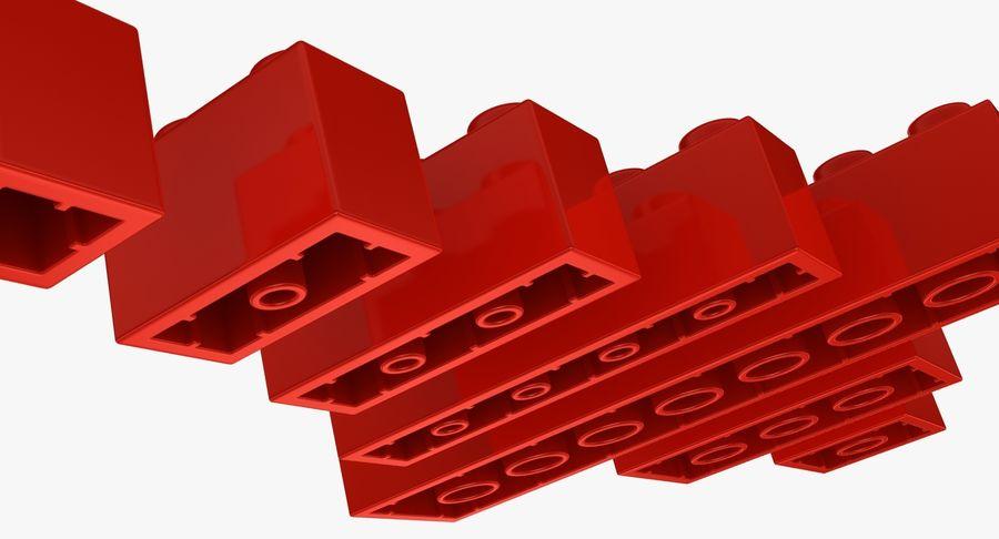 Lego Bricks Set royalty-free 3d model - Preview no. 9