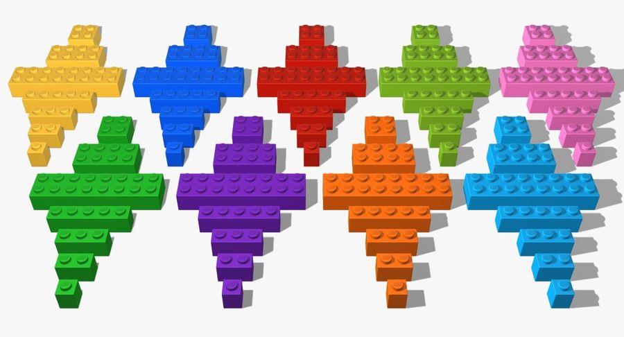 Lego Bricks Set royalty-free 3d model - Preview no. 25