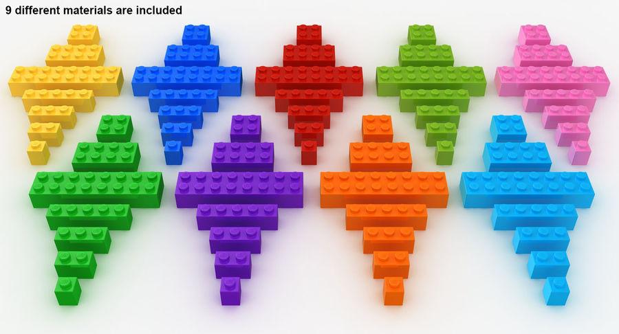 Lego Bricks Set royalty-free 3d model - Preview no. 6