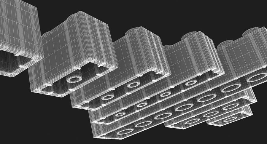 Lego Bricks Set royalty-free 3d model - Preview no. 17