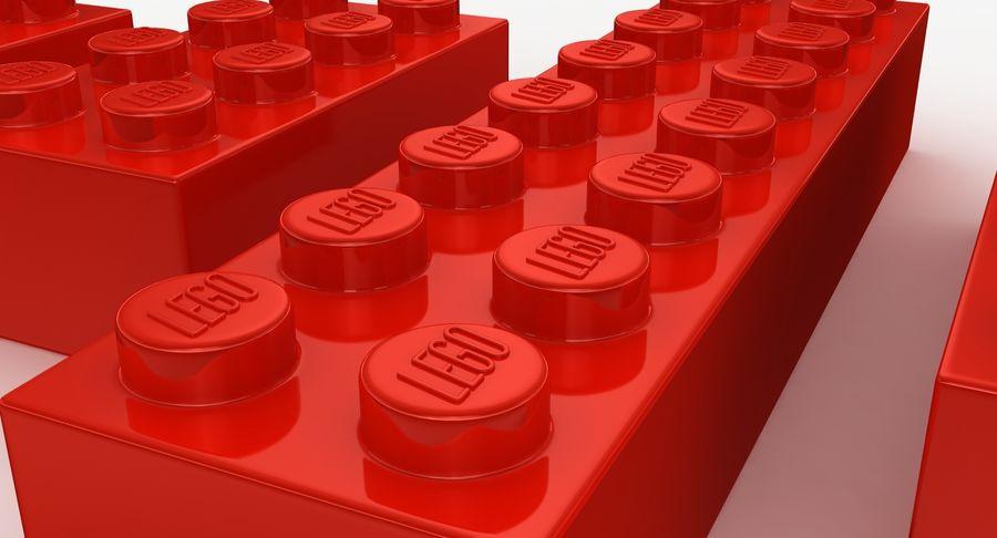 Lego Bricks Set royalty-free 3d model - Preview no. 7
