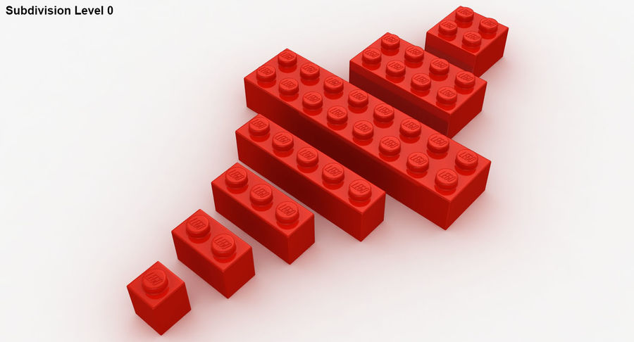 Lego Bricks Set royalty-free 3d model - Preview no. 20