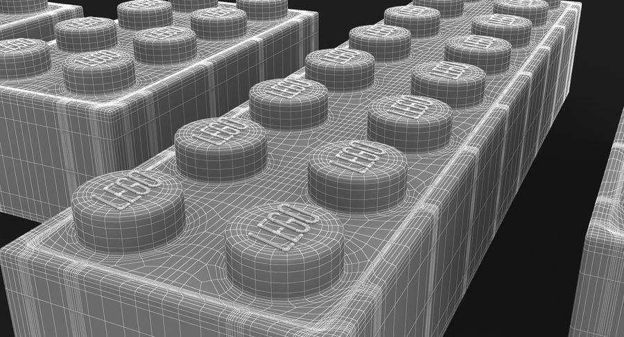 Lego Bricks Set royalty-free 3d model - Preview no. 16
