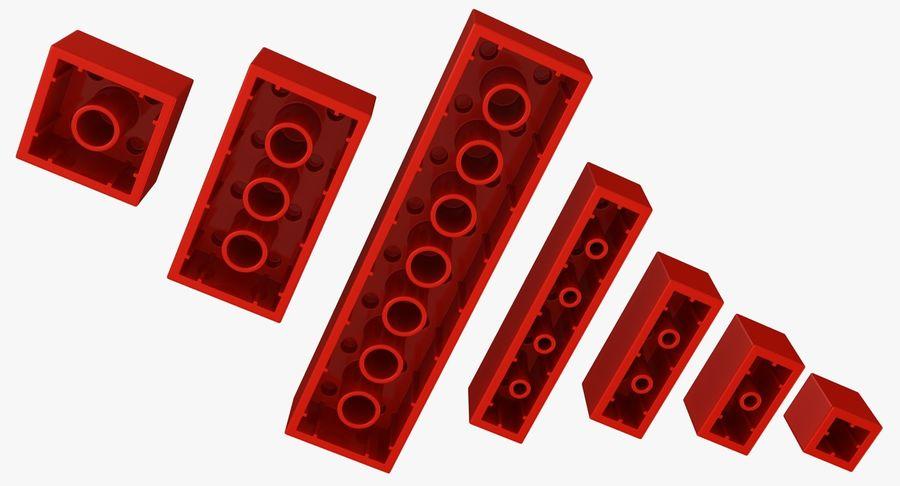 Lego Bricks Set royalty-free 3d model - Preview no. 8