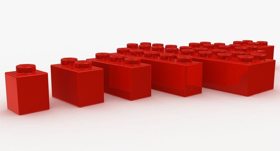 Lego Bricks Set royalty-free 3d model - Preview no. 11