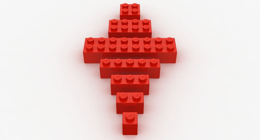 Lego Bricks Set royalty-free 3d model - Preview no. 5