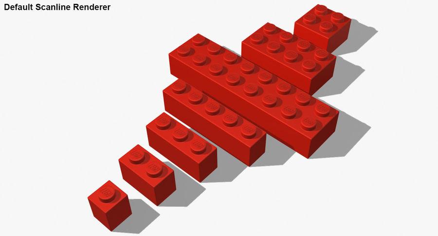 Lego Bricks Set royalty-free 3d model - Preview no. 24