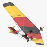 Ultralight Aircraft Chotia Weedhopper Rigged 3D Model 3d model