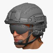 Conjunto de casco Crye Precision ATX modelo 3d
