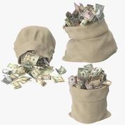 Otwarta kolekcja worków na pieniądze 3d model
