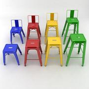 Metal Stools Collection 3d model