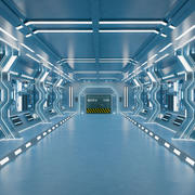 Intérieur Sci-Fi 3d model