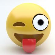 emoji tongue 3d model