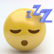emoji sleep 3d model