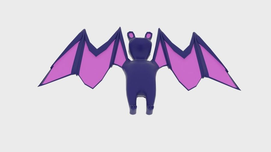 Character Toon Bat royalty-free 3d model - Preview no. 3