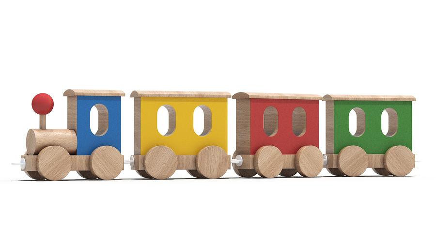 おもちゃの機関車 royalty-free 3d model - Preview no. 2