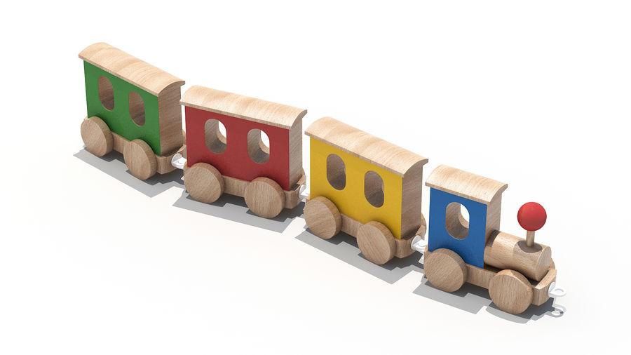 おもちゃの機関車 royalty-free 3d model - Preview no. 4
