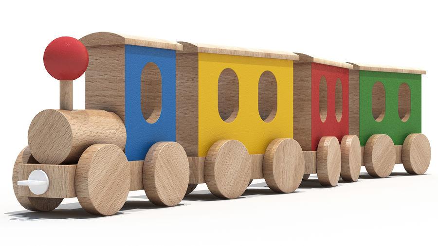 おもちゃの機関車 royalty-free 3d model - Preview no. 1