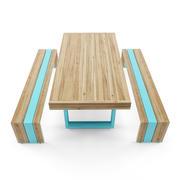 ławka i stół 3d model