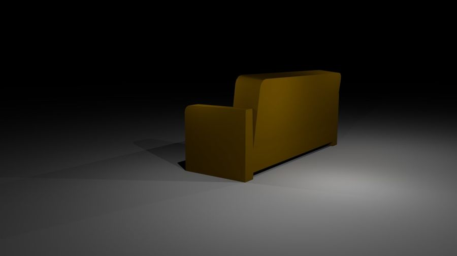 沙发简单低聚 royalty-free 3d model - Preview no. 4