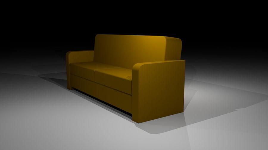 沙发简单低聚 royalty-free 3d model - Preview no. 3