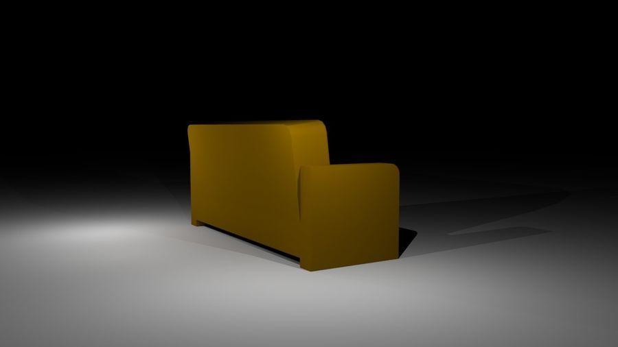 沙发简单低聚 royalty-free 3d model - Preview no. 5
