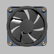 Вентилятор корпуса ПК 3d model