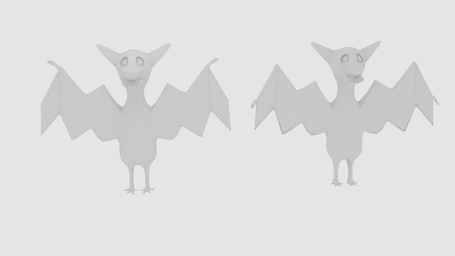 Cartoon Fledermaus royalty-free 3d model - Preview no. 5