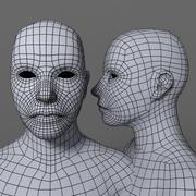 Blank Female Game Avatar 3d model
