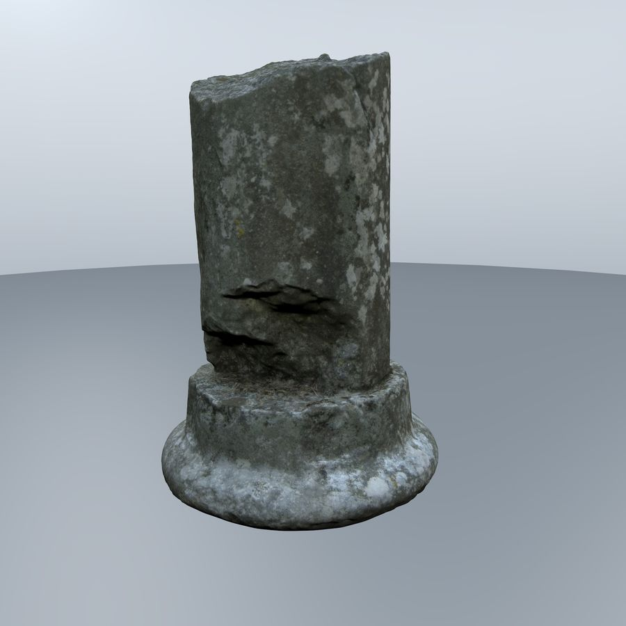 ancient pillar scan royalty-free 3d model - Preview no. 3
