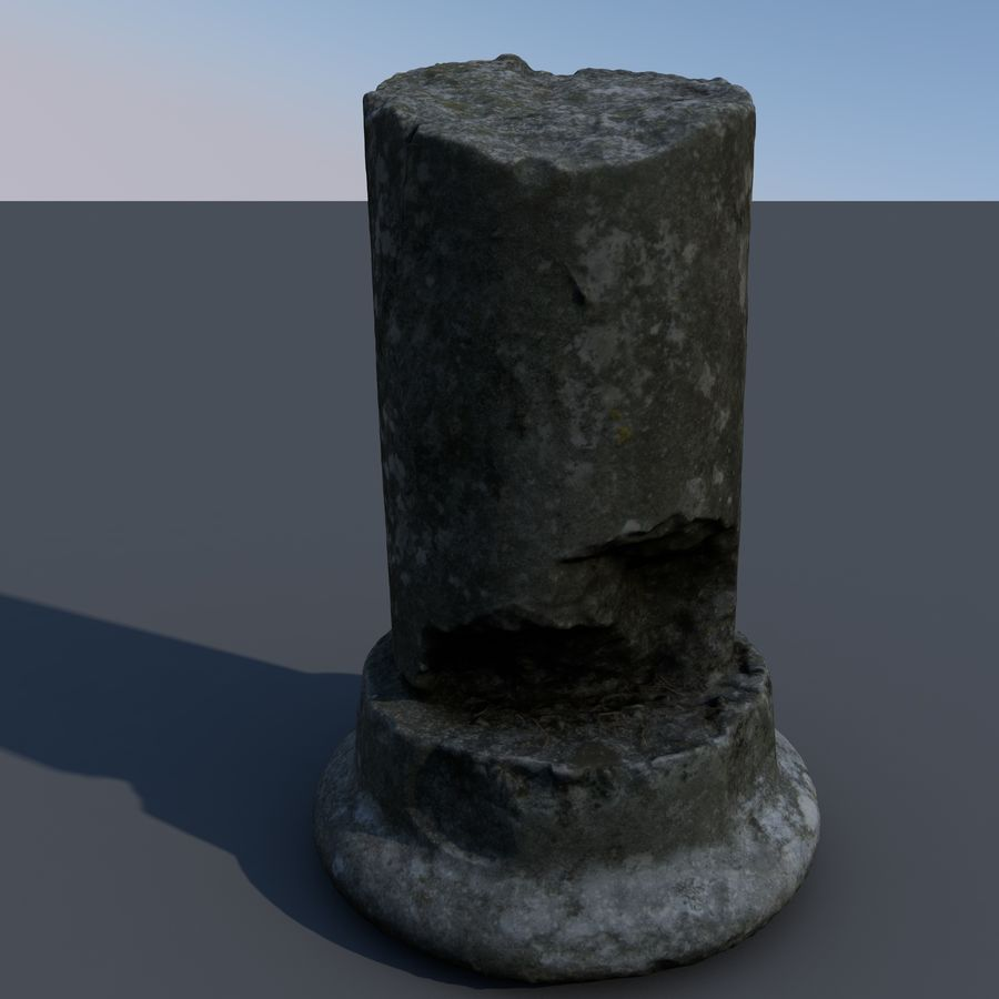 ancient pillar scan royalty-free 3d model - Preview no. 1