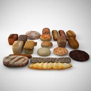 bułki bułki i bochenki chleba 3d model