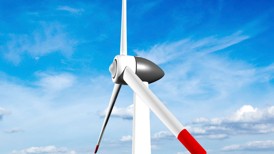 Clean energy - Eolic turbine royalty-free 3d model - Preview no. 1