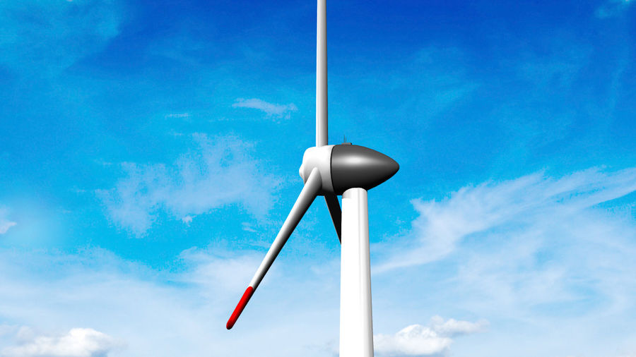 Clean energy - Eolic turbine royalty-free 3d model - Preview no. 5